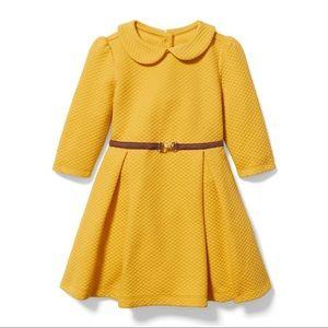 Janie and Jack yellow mustard dress .